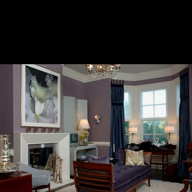 Purple and grey bedroom ideas: Decor, Wall Colors, Design Ideas, Bedrooms Design, Dining Rooms Colors, Paintings Colors, Colors Schemes, Traditional Living Rooms, Purple Wall