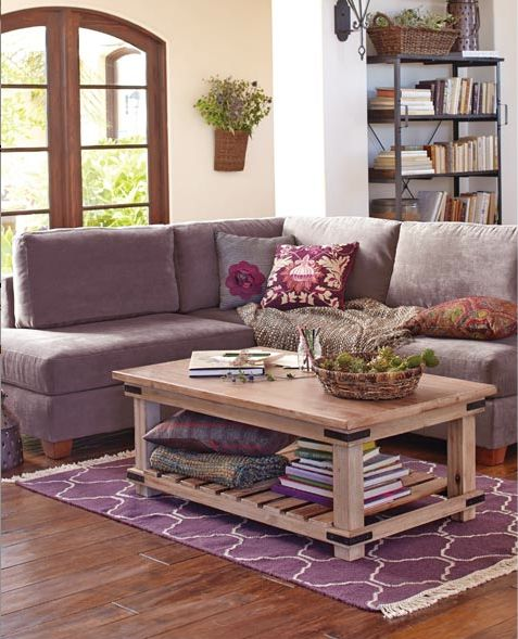 Cameron Coffee Table: Lilacs, The Cameron And The Purple