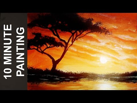 Lions Of Africa | Acrylic painting |painting tutorial |step by step acrylic | #clive5art - YouTube