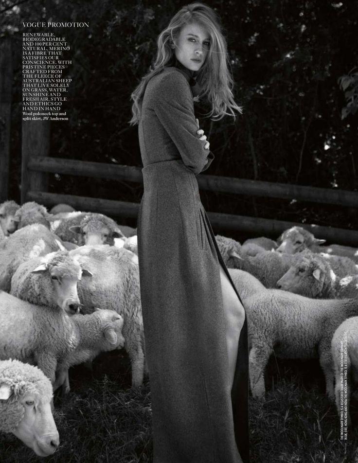 Yelena Yemchuk for Vogue UK, Oct 2013 | Natasa Vojnovic in 'Back to Nature' styled by Karen Langley