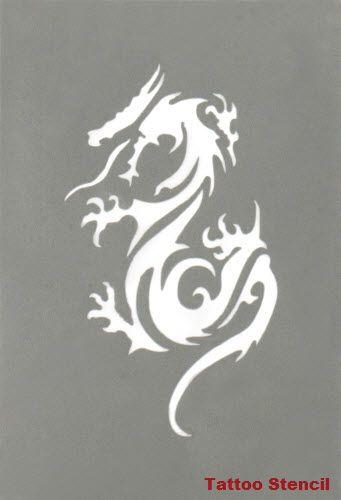 Dragon Tattoo Stencil Stargazer #tattoostencils #t4aw