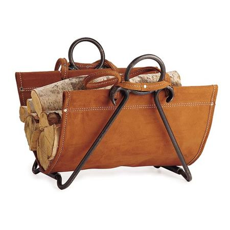 Forged Iron Log Carrier and Wood Holder #LearnShopEnjoy