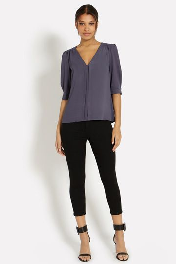 Plain Nicky Tuck Sleeve Top