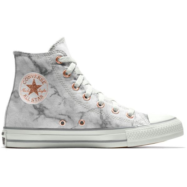 Converse Custom Chuck Taylor All Star Marble High Top Shoe (£65) ❤ liked on Polyvore featuring shoes, converse high tops, converse footwear, star shoes, converse shoes and hi tops