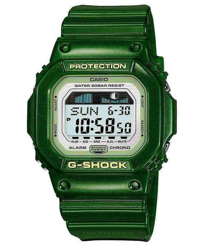 Casio GLX5600A-3 G-Shock Green Resin Digital World Timer Watch