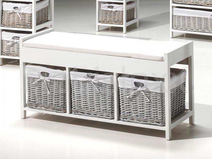 17 meilleures id es propos de banc de salle de bains sur - Meuble tiroir osier pas cher ...
