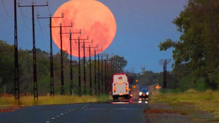 Moonrise near Alice Springs