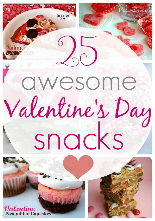 valentine's day snacks for kindergarten