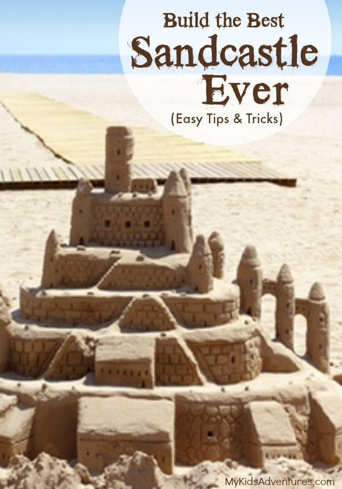 how to build a simple sandcastle