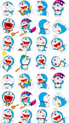 手机壁纸♥-☞{哆啦A梦Doraemon}☜-堆糖,美好生活研究所