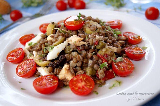 ... /08/ensalada-de-lentejas.html | Pinterest | Lentils, Lentil salad