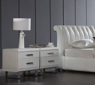 360 Bedside Table. Available in Synthetic Leather or G-Fabric.