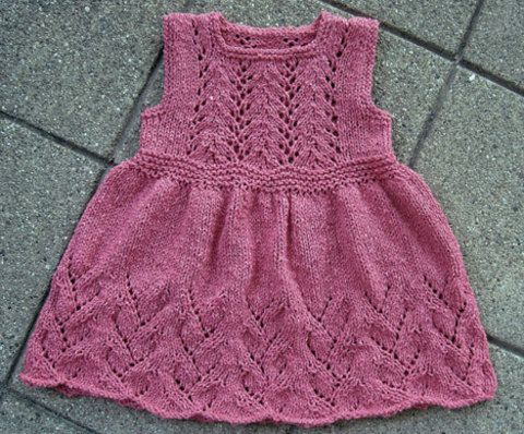 Knitspot - 207 - Vine Flower Dress (6m - age 2)