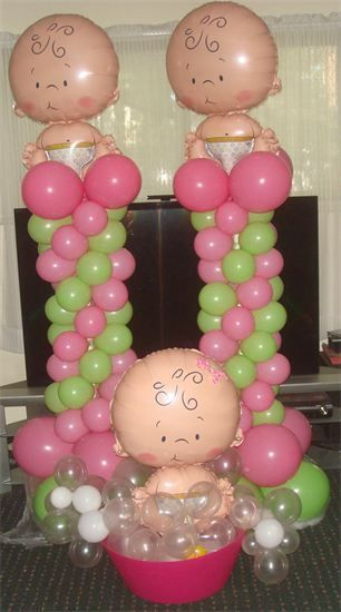 107 best images about baby shower balloon decor on for Balloon decoration for baby girl