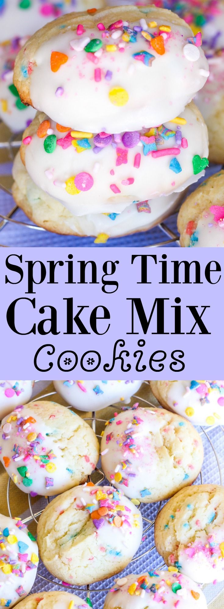 Spring Time Cake Mix Cookies// Kathryn's Kitchen Blog