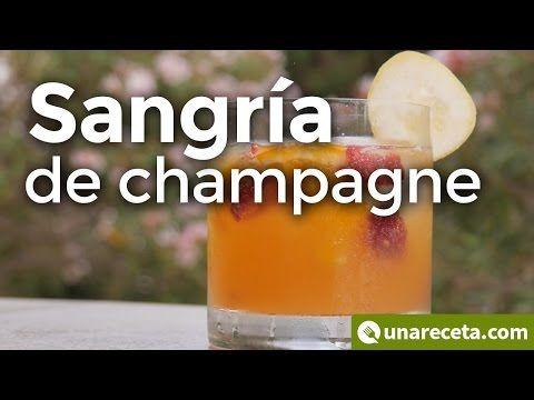 Sangría de champagne  ¡Su sabor te sorprenderá!  #Sangría #RecetasEspañolas #Cóctel #SangríaDeChampagne #Champagne #SangríaDeChampán #Champán #SangríaDeChampaña #Champaña