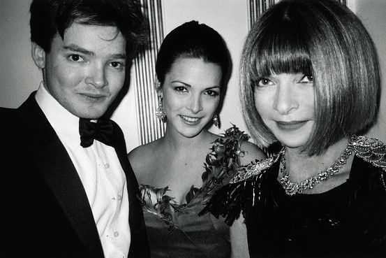 Anna Wintour with Charlie and Bee