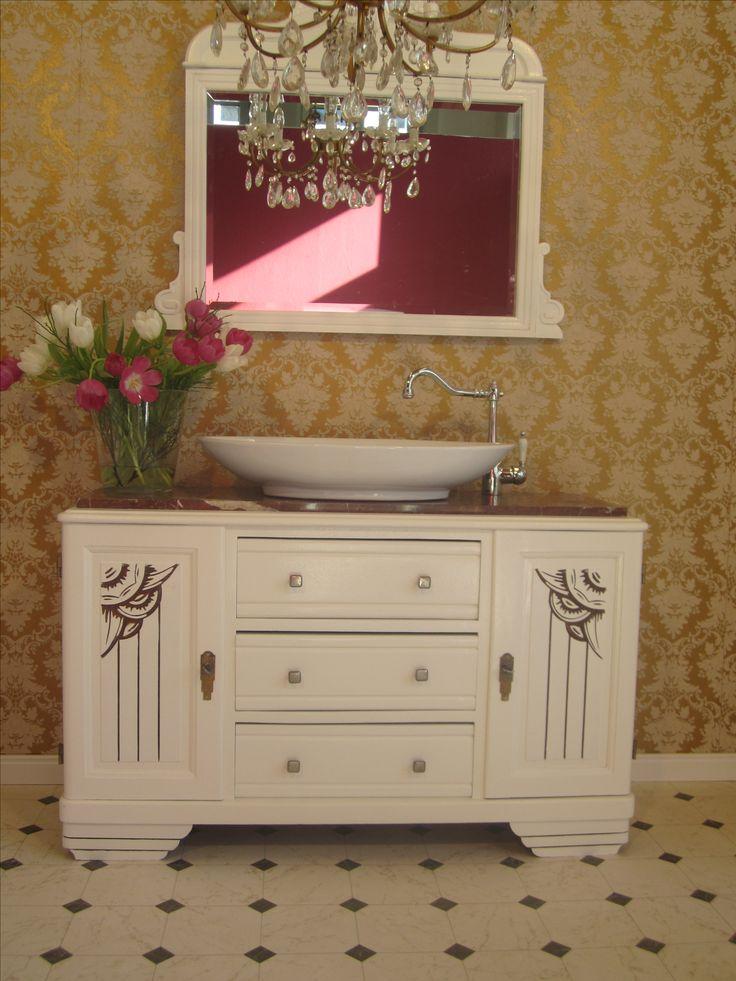 26 best landhaus bad images on pinterest fashion vintage. Black Bedroom Furniture Sets. Home Design Ideas
