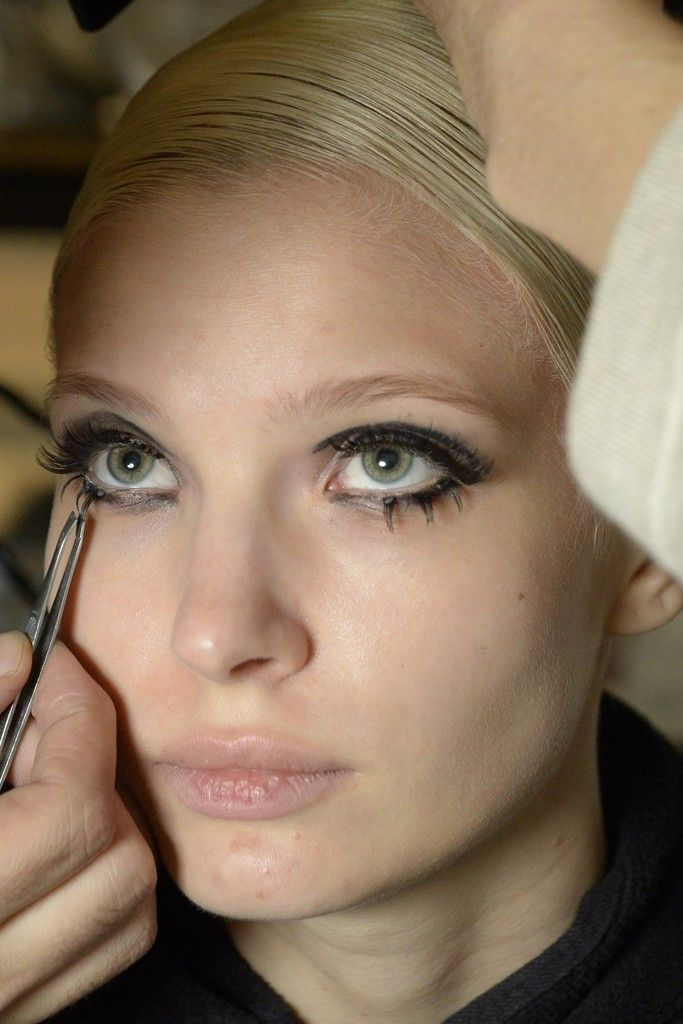 Backstage at Thom Browne RTW Spring 2015 [Photo by Rodin Banica]