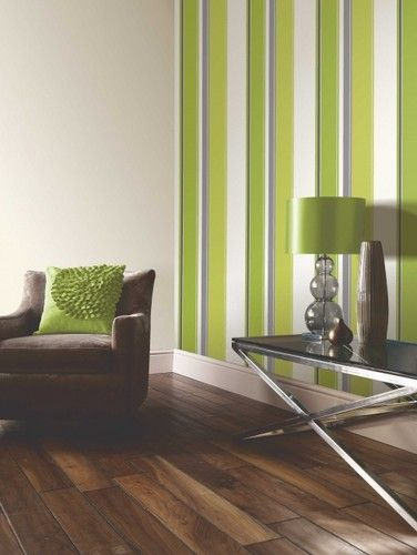 Wonderful Carina Stripe Lime Green Wallpaper   Arthouse Part 2