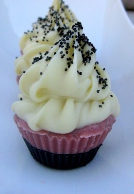 red apple shea butter mini cupcake soap. love the poppy seed sprinkle
