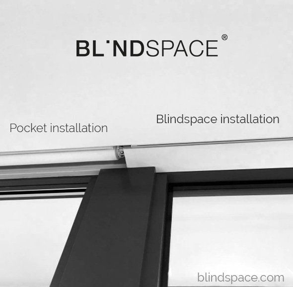 Concealed blinds above bi-fold doors in comparison with pocket installation.     #recessed #concealed #shades #blinds
