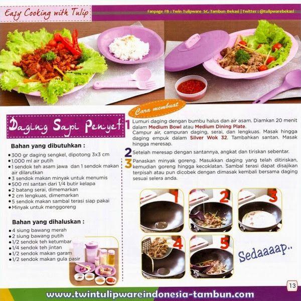 Resep Masakan Silver Wok 32 #Tulipware : Daging Sapi Penyet