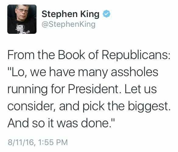 Stephen effing King.
