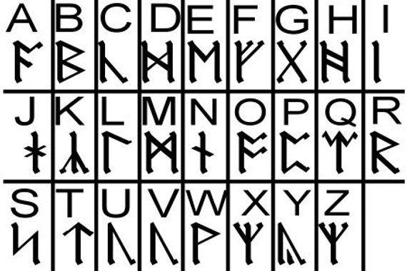 Design Pack Machine Embroidery Font Viking Runes Druid Etsy Enochian Alphabet Enochian Viking Runes