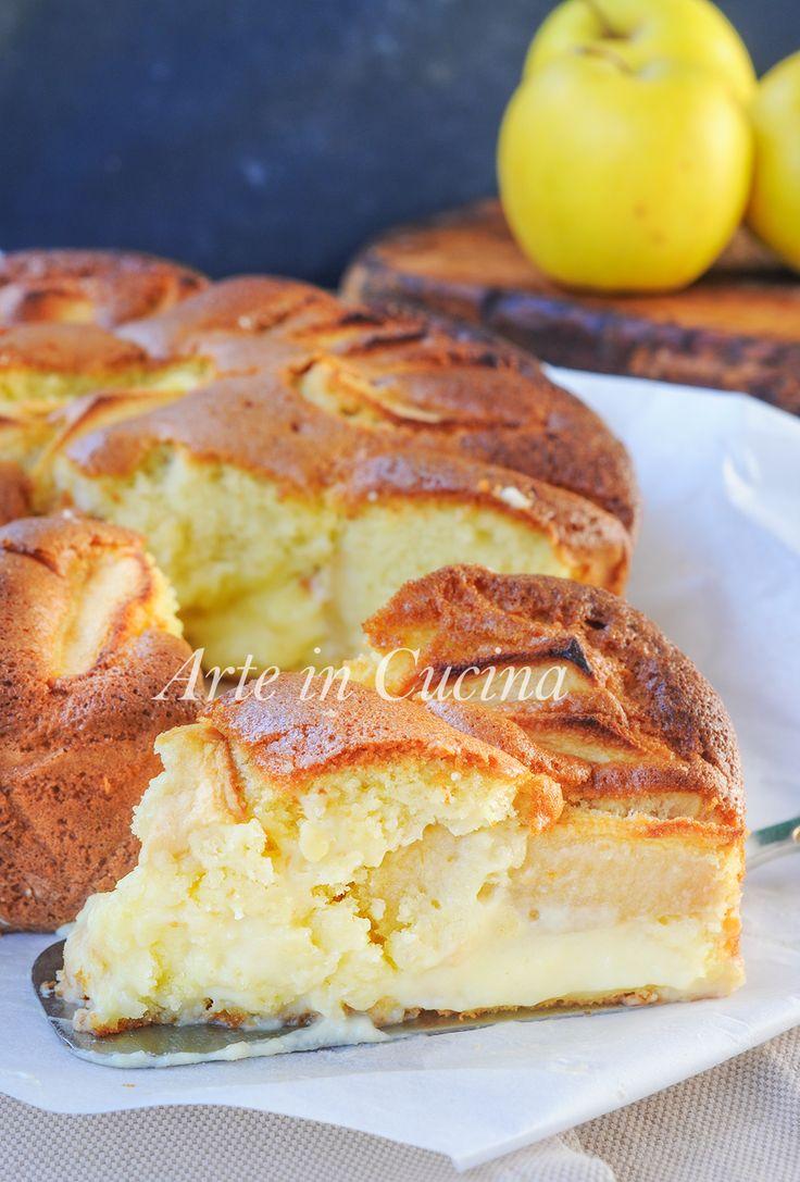 Nua bolo de creme e maçã de sobremesa arte receita vickyart na cozinha