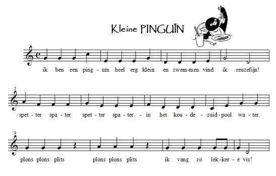 liedje pinguin