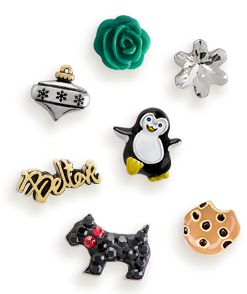 Take a look at all the fun new charms now available for the Holidays!   #origamiowl #charms #ornament #penquin #snowflake #believe #chocolatechipcookie