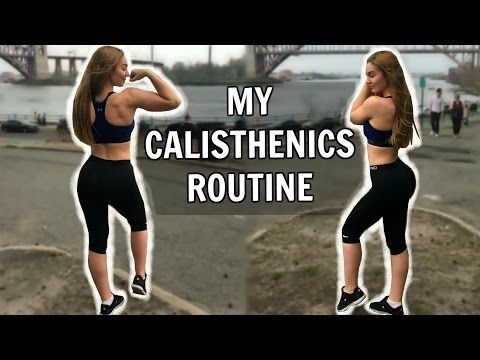(1) My Calisthenics Routine | Park Workout - YouTube