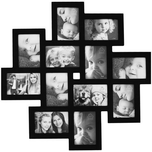 This fun Collage Picture Frame makes decorating a breeze! It looks great on a large open living room wall or above the bed. The white matte finish will give black and white images a 'floating' effect