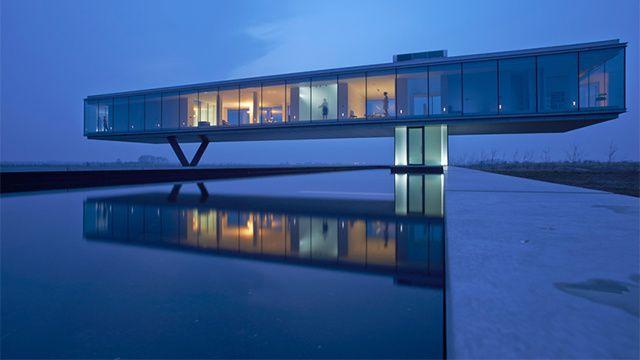 Dream home: a floating glass house—or superhero headquarters