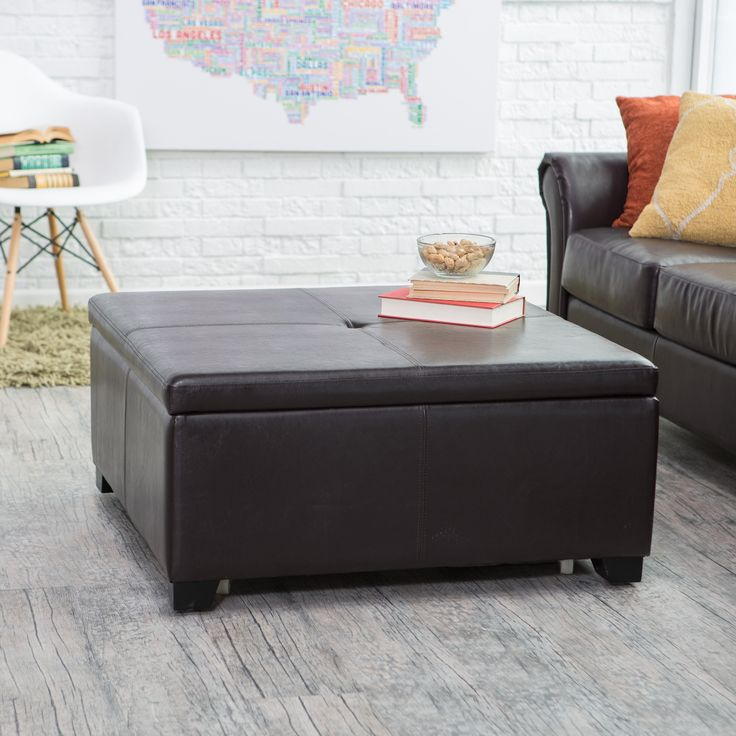Belham Living Corbett Square Coffee Table Storage Ottoman - The luxuriously  elegant Corbett Coffee Table Storage - 25+ Best Ideas About Storage Ottoman Coffee Table On Pinterest