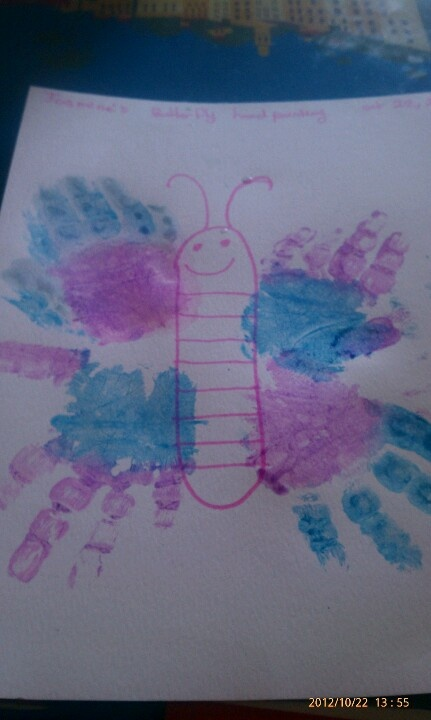 my daughters hand print butterfly