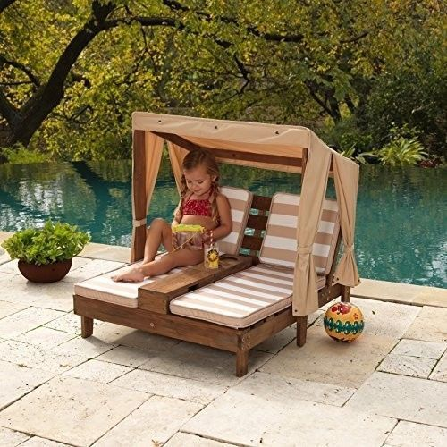 ICYMI: Outdoor Double Chaise Lounge Kids Wooden Patio ...