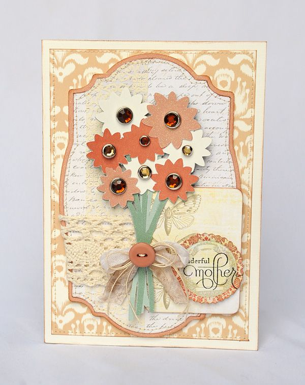 """Wonderful Mother"" card created with the Mother's Day Moments Cricut Craft Room Exclusive!"