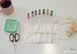 How to do Korean quilted embroidery - looks like it is backed by some kind of small cording, to give it a quilted appearance. But the embroidery is colored, whereas European-style is typically all white. Very neat. [규방공예] [진행중]