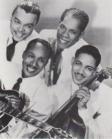The Ink Spots were a popular vocal group in the 1930s and 1940s that helped define the musical genre that led to rhythm and blues and rock and roll, and the subgenre doo-wop. They and the Mills Brothers, another black vocal group of the same period, gained much acceptance in the white community.