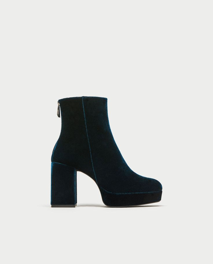 PLATFORM ANKLE BOOTS WITH PULL TAB