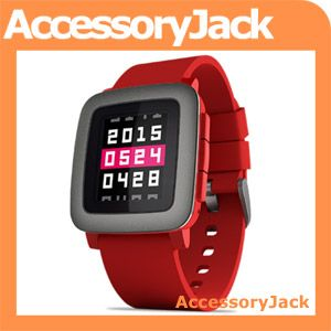 Pebble Time Smartwatch (Red)