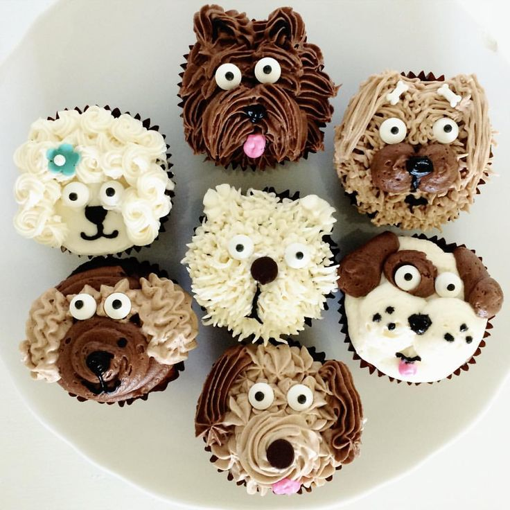 Puppy Dog Cupcakes by Libby's Cupcakes Etc - Tap the pin for the most adorable pawtastic fur baby apparel! You'll love the dog clothes and cat clothes! <3