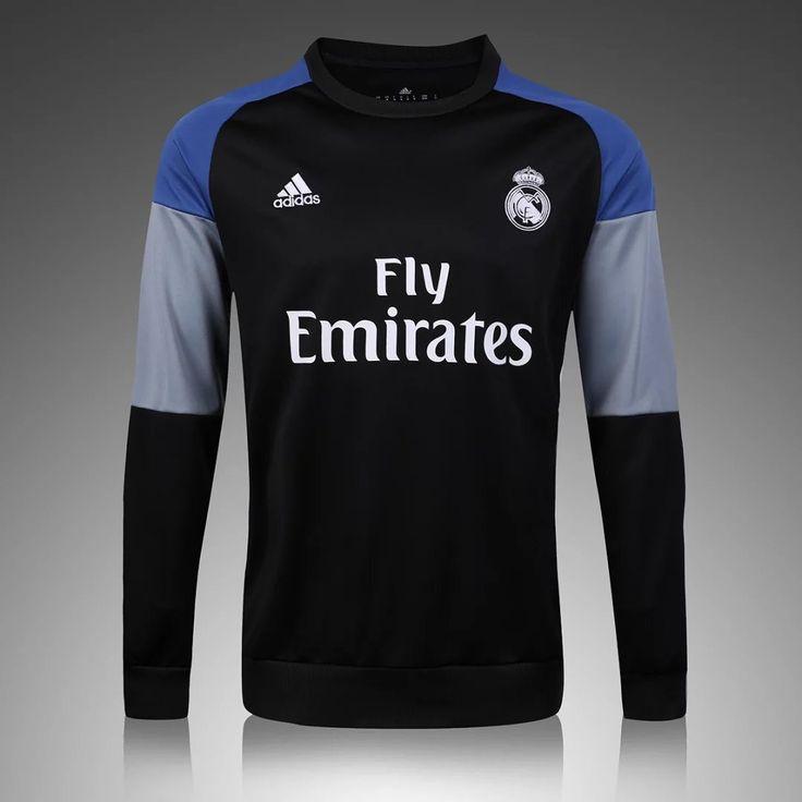 Real Madrid 2016/17 Black Long Sleeve Training Top