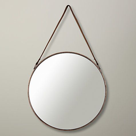 Buy John Lewis Round Hanging Mirror Dia 50cm Online At Johnlewis Com Brass