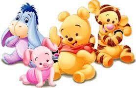 Baby pooh bear and friends