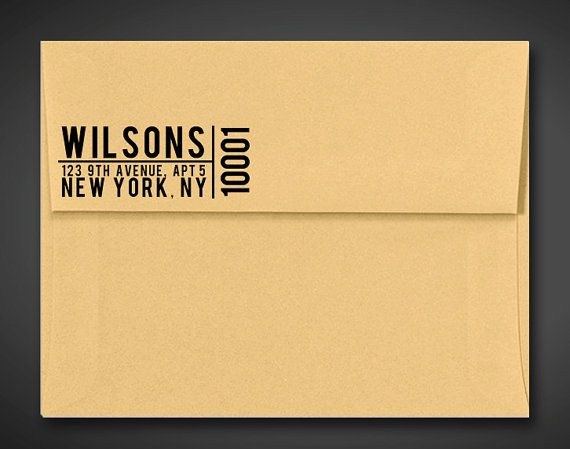 Custom Return Address Stamp - Pre Inked / Self Inking Stamp - Typographic Style  - Small Block Design - Contemporary Stamp