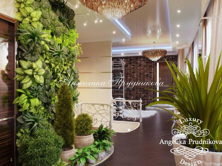 Дизайн интерьера пентхауса с лестницей в ЖК Дубровка в стиле Модерн - фото