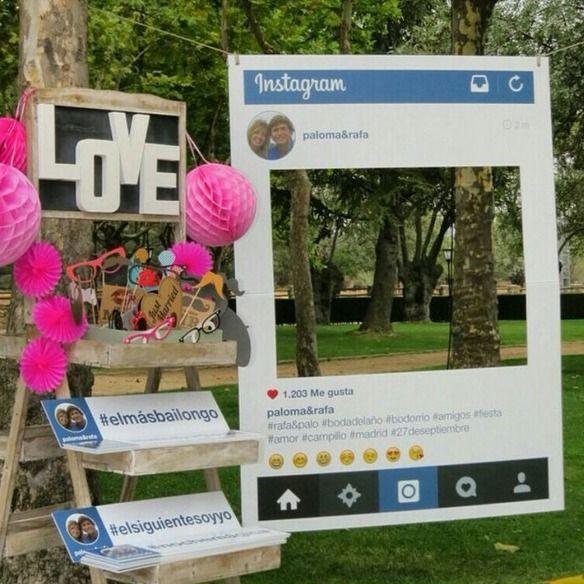 un rincn instagram en tu boda wedsiting blog tu web de boda gratis ideas para bodas wedding inspiration pinterest ideas para bodas and wedding